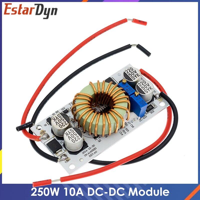 250W 10A DC-DC повышающий преобразователь постоянного тока постоянного Модуль Текущий мобильный Питание светодиодный модуль драйвера неизолиро...