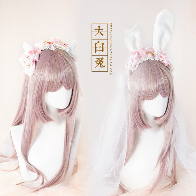 Bow Biscuit Dessert Cute Plush Sweet Of Rabbit Ears CAT Ears KC /Hair Bands Headdress White Rabbits Hand Made House Lolita