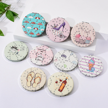 Vicney New Design Fashion Cute Beauty Tool Double-Sided Makeup Vanity Metal Student Women Compact Folded Portable Pocket Mirror