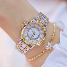 Diament kobiety luksusowej marki zegarek 2021 Rhinestone eleganckie panie zegarki złote zegarki dla kobiet relogio feminino 2020 tanie tanio BS bee sister QUARTZ 3Bar STAINLESS STEEL Przycisk ukryte zapięcie CN (pochodzenie) Luxury ru NONE Nie pakiet 2019 BS Women Watches FA-1506