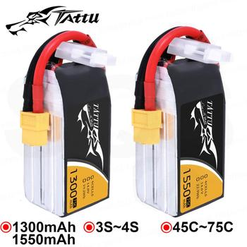 Tattu Lipo Battery 1300mAh 1550mAh Lipo 3S 4S 5s 6s Racing Battery XT60 Plug 45C 75C Quadcopter Racing FPV Drone RC Helicopter 1500mah 14 8v 4s 45c lithium li po battery xt60 plug 2pcs for rc helicopter qudcopter drone truck car boat bateria
