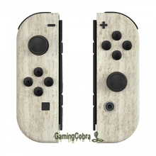 Pine Wood Grain Controller Housing with Full Set Buttons DIY Replacement Shell Case for NS JoyCon   CS208
