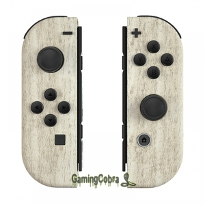 Image 1 - Pine Wood Grain Controller Housing with Full Set Buttons DIY Replacement Shell Case for NS JoyCon   CS208