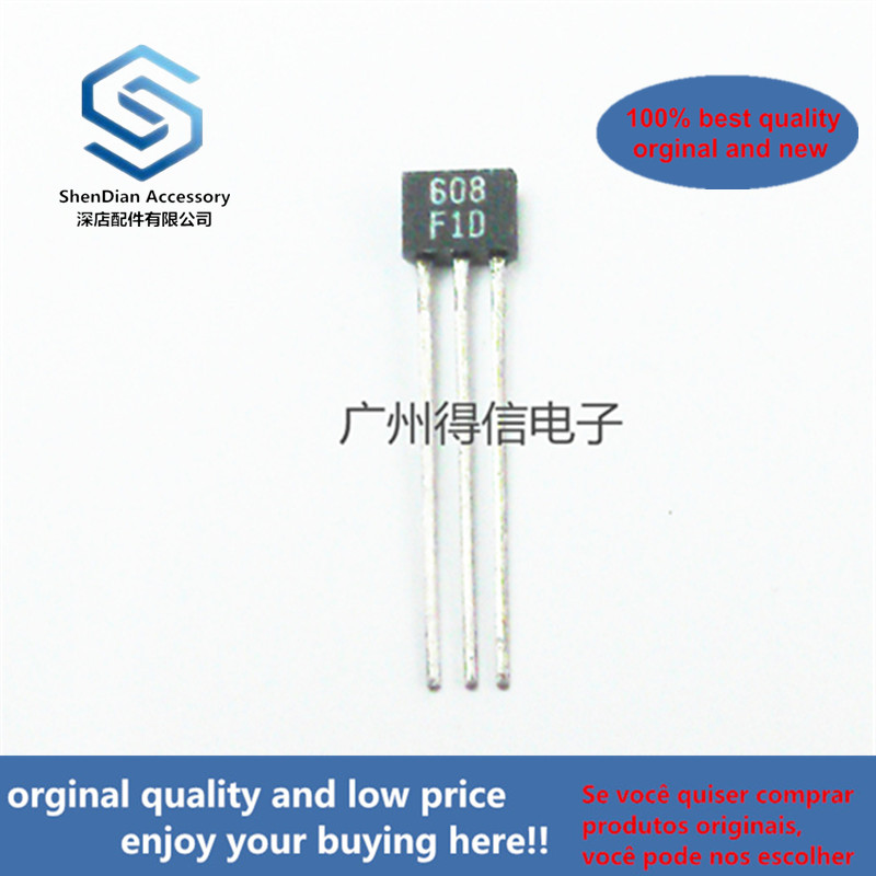 50pcs 100% Orginal New 2SA608F A608 608 TO-92S GENERAL PURPOSE AMP, SWITCHING APPLICATIONS Real Photo