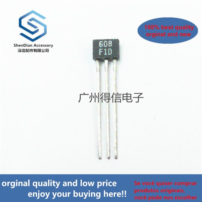 50pcs 100% Orginal New 2SA608F A608 608 TO-92S GENERAL PURPOSE AMP, SWITCHING APPLICATIONS Real Photo