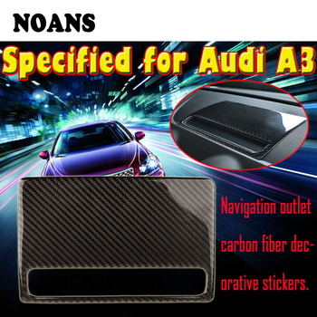 NOANS Styling Carbon Fiber Dashboard Navigation Decorative GPS Trim Frame Stickers For Audi A3 8V 8p 8l 2012-2017 Accessories image