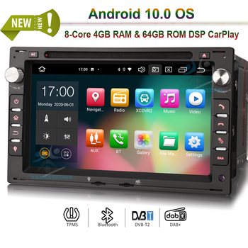 7 Bluetooth Android 10.0 Autoradio Car Stereo DAB+ GPS Radio 4G 64G for VW Golf Passat Polo Bora Seat Peugeot 307 DSP CarPlay image