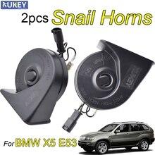 Snail-Horn BMW 12V Car Loud for X5 E53 1999/2000/2001/.. 125db Dual-Tone 1set Waterproof