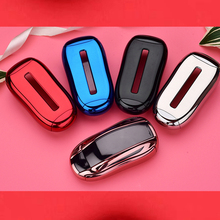 Hight quality PC+TPU car Key Protection Case Full Protective Fob for Tesla Model X S