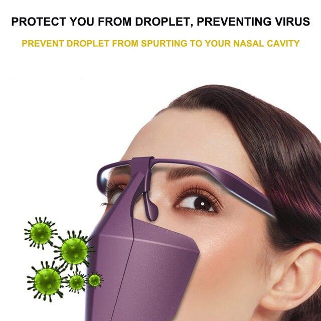 Reusable Face Shield Protective Facial Mask Anti Fog Droplets Saliva Anti-Splash Dust Isolating Face Visiere protection Visor 1