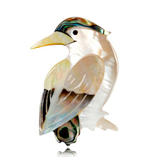 Cross-border ecommerce European and American custom style retro bird brooch simple shell series animal