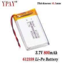 цена на 3 line Liter energy battery 3.7V lithium polymer battery 612338 800mAh game machine MP3 MP4 MP5 lithium battery GPS navigator