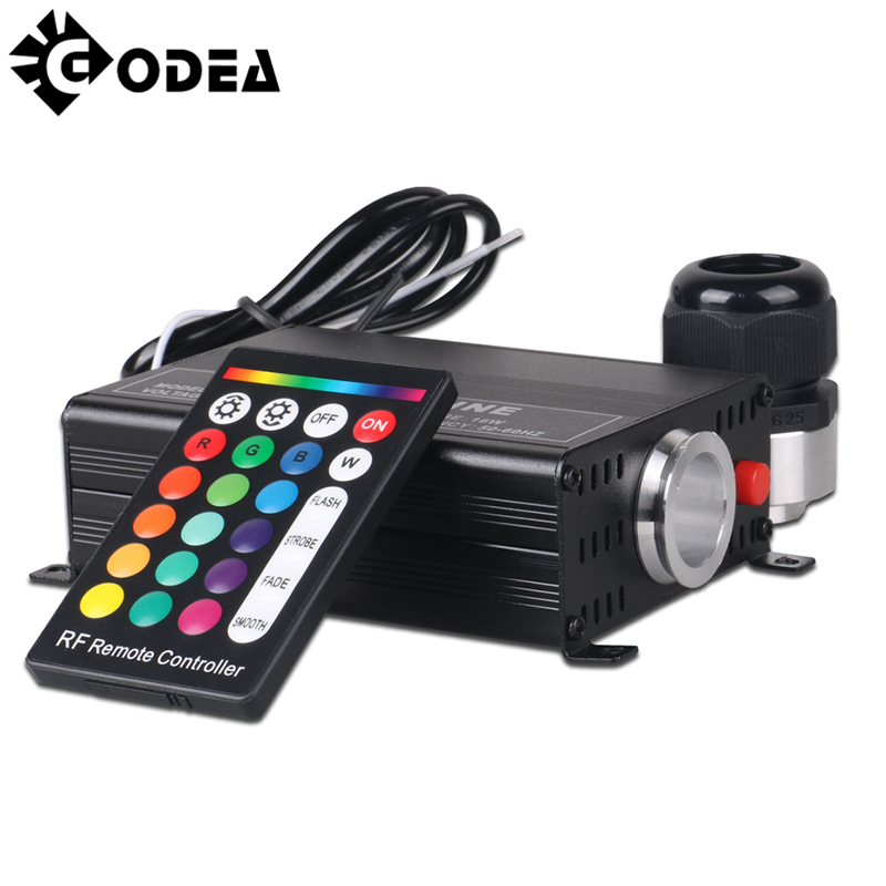 GODEA RGB 16W LED Optic Fiber Light Engine Twinkle Lights Generator Optic Fiber Driver With 24 Key RF Remote Controller Lighting