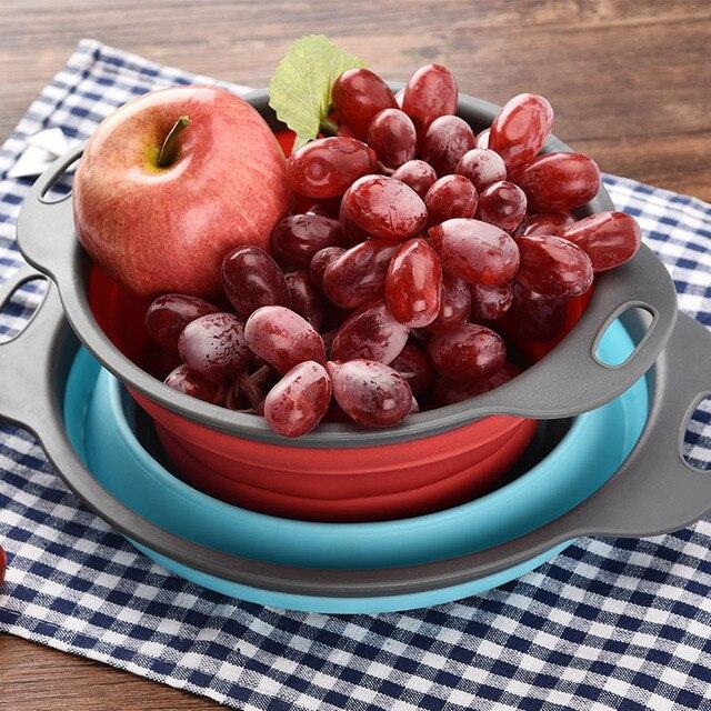 المنزلية استنزاف سلة الإبداع طوي المنزلية متعددة الأغراض الفاكهة استنزاف سلة بلاستيكية المطبخ غسل سلة التخزين