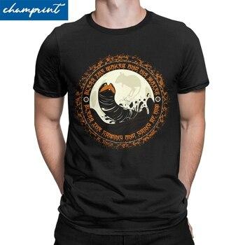 Men's Shai Hulud T Shirts Dune Herbert Frank Arrakis Sandworm Science Fiction Pure Cotton Tops Vintage Tee Shirt Adult T-Shirts - discount item  40% OFF Tops & Tees