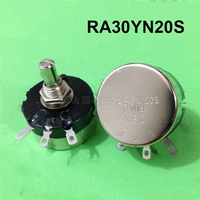 1 шт., потенциометр RA30YN20S B501(500 Ом) B102(1K) B202(2K) B502(5K) B103(10K) B203(20K)