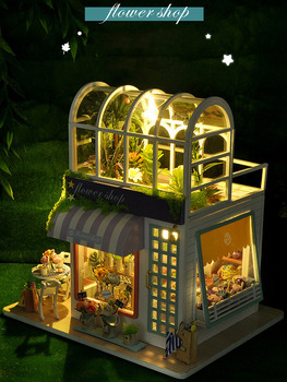 'Gardening Workshop'DIY Dollhouse With Furniture For Dolls Creative Mini World Doll House Handmade House New Year Good Girl Gift 1