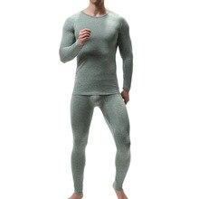 Man Soft Winter Round Neck Warm Long Johns for Men Ultra-Sof