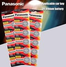 Panasonic Оригинал 15 шт./лот cr 2032 кнопочные батарейки 3 в монета литиевая батарея для часов пульт дистанционного управления калькулятор cr2032