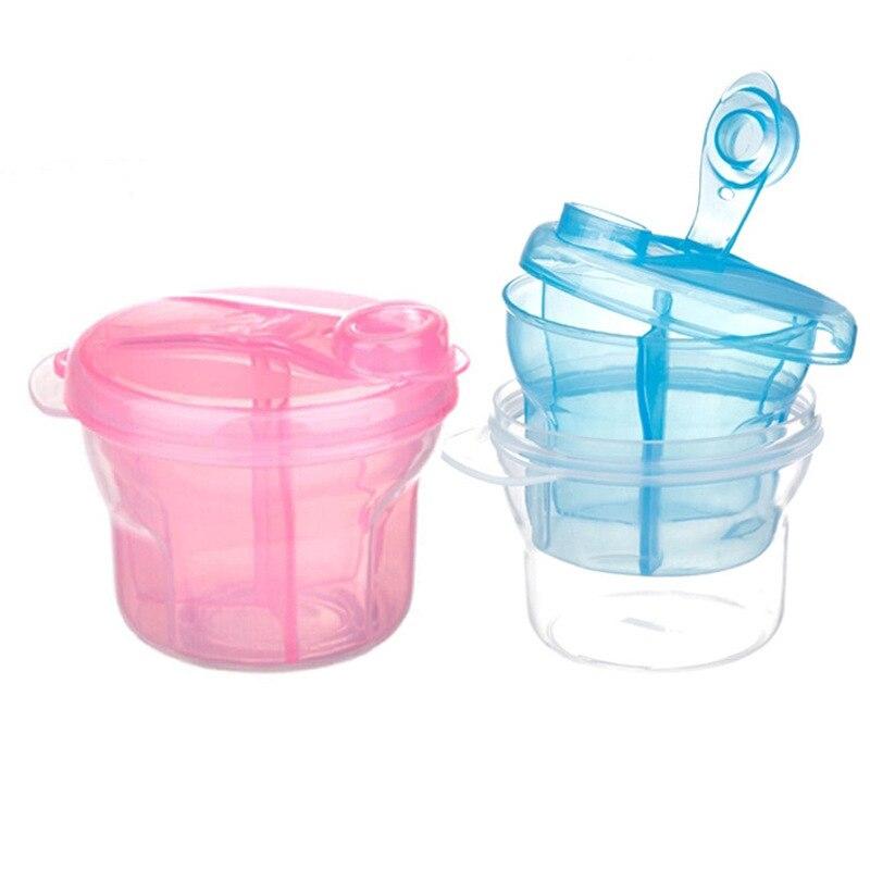 Three-lattice Snack Portable Healthy Milk Powder Breast Kids Baby Food Storage Container Storage Cup Feeding Box