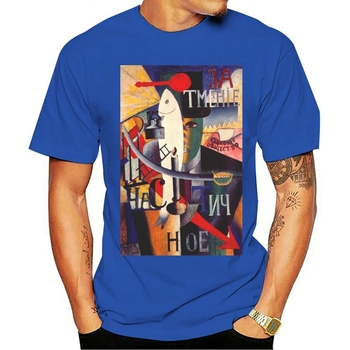 2021 Fashion casual 100% cotton T-shirt An Englishman in Moscow by Kazimir Severinovich Malevich Men image