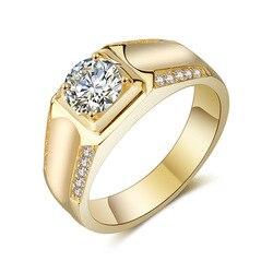 Кольцо с натуральным бриллиантом 1 карат 18 К золота, ювелирные изделия для мужчин, бижутерия, Женские Ювелирные изделия, серебро 925 пробы, биз...
