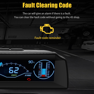 Image 4 - AUTOOL X90 Board Computer Head Up Display Hud Obd2 Car Speedometer Slope Meter Code Clear Inclinometer Compass Car Electronics