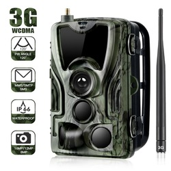 Cámara de caza múltiple HC-801G 3G 16MP 1080P Full HD Videos Trail Cámara megapíxeles impermeable 940nm cámaras LED infrarrojas