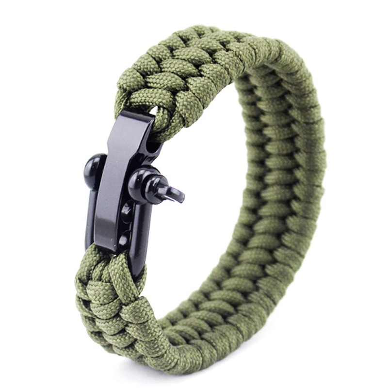 Camping Rope Paracord Hiking Tactical Survival Braided Camp Equipment Rescue Umbrella Rope Outdoor Bracelets Parachute Cord