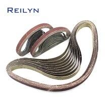 Sand belt 10pcs 330x10 60# 180# sand paper polishing belt  belt sander sand paper polishing material small sanding belt