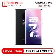 هاتف ذكي OnePlus 7 Pro سنابدراجون 855 ثماني النواة 48 ميجابكسل كاميرات خلفية ثلاثية 6.67 بوصة 2K + سائل شاشة AMOLED إفتح UFS3.0