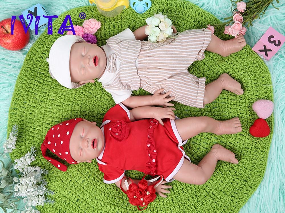 IVITA WG1514 46 см 2972 г высококачественные силиконовые куклы-Новорожденные силиконовые куклы для детей, рождественские игрушки