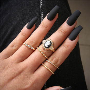 15 Pcs/set Women Fashion Rings Hearts Fatima Hands Virgin Mary Cross Leaf Hollow Geometric Crystal Ring Set Wedding Jewelry 45