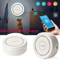 Cabo usb sem fio wi fi alarme sensor sirene para casa inteligente dispositivo de apoio detector infravermelho interior|Automação predial| |  -