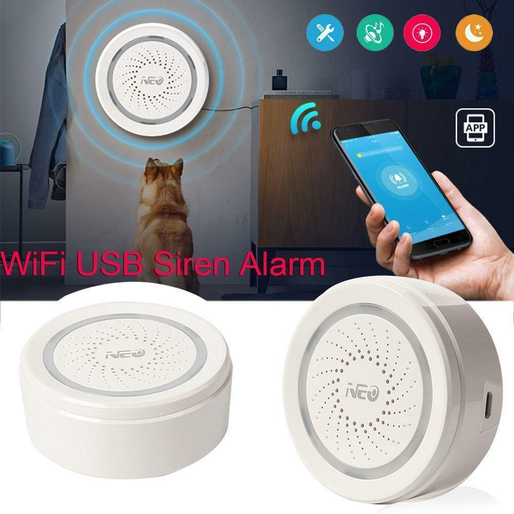 USB Cable Wireless WiFi Alarm Sensor Siren For Smart Home Support Device INfrared Detector Detector Indoor