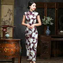 2019 Sale Real Spring/summer Outfit Daily Improved Long Cheongsam Restoring Ancient Ways Of Cultivate Morality Silk Dress Qipao