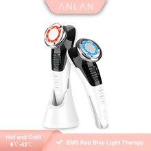 EMS Gesichts Massager LED licht therapie Sonic Vibration Falten Entfernung Hautstraffung Heiße Kühle Behandlung Hautpflege Schönheit Gerät