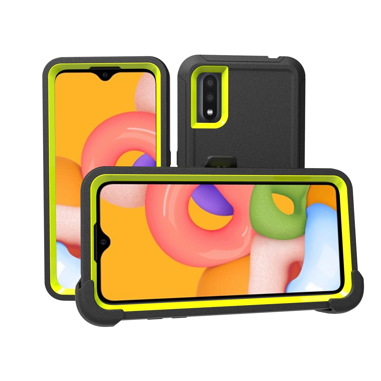 Армированный чехол для телефона Samsung A11, A21, A50, A20E, A51, A71, A01, A20, S20FE, Note20 ultra, 3 в 1, гибридный противоударный защитный чехол из поликарбоната и ТПУ
