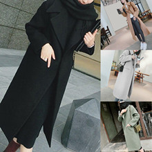 Women #8217 s winter Lapel button long coat women #8217 s coat coat British pure wool blended windbreaker coat official women #8217 s coat· cheap Polyester CN(Origin) Anti-Pilling Anti-Shrink Anti-Wrinkle Thermal Turn-down Collar Fits true to size take your normal size