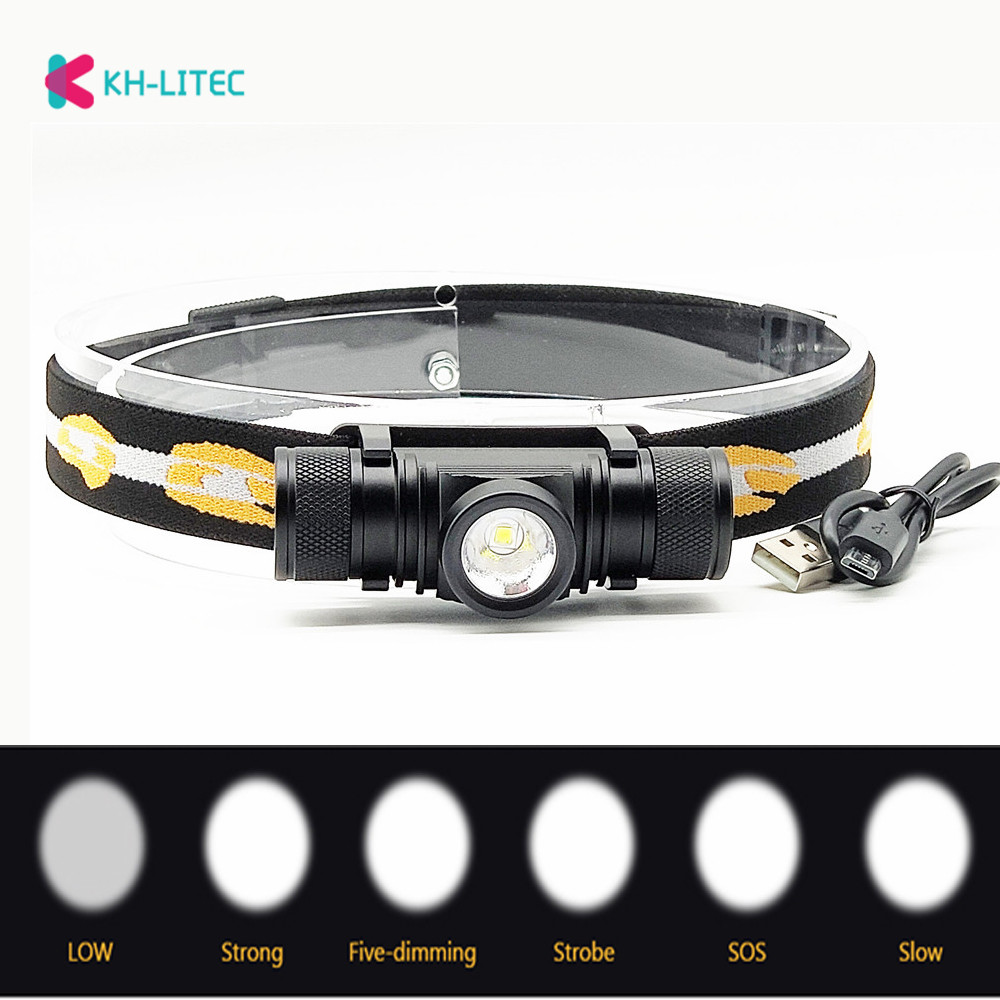 LED CREE XM L2 USB LED Headlamp Waterproof Headlamp LED Headlight 18650 Rechargeable Battery Torch Head Flashlight Camping Light