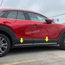 크롬 자동차 사이드 도어 바디 프로텍터 스트립 몰딩 트림 마즈다 CX30 CX 30 DM 2020 2021