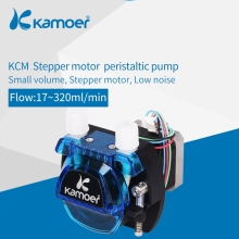 Kamoer KCM 12V /24V Mini Peristaltic Water Pump With Stepper Motor And BPT/Silicon Tube 500ml min 12vdc peristaltic pump with exchangeable pump head and fda approved pharmed bpt peristaltic tube