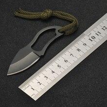 Heißer Verkauf Kleine Tasche Messer mit Leder Abdeckung Outdoor Sport Camping Wandern Überleben Selbstverteidigung EDC Taktische Getriebe Zubehör