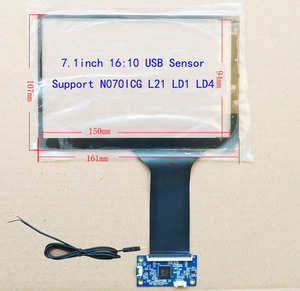 7inch 16:10 For HSD070PWW1 N070ICG-LD1 CAR CARPC DIY industrial control Support WIN7 WIN8 WIN10 Android Linux
