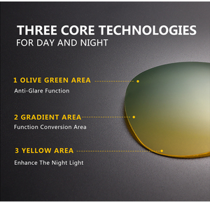 Image 3 - Очки солнцезащитные CAPONI мужские в металлической оправе, модные солнечные аксессуары для вождения, дневное и ночное видение, зеленого и желтого цвета, UV400, RY8722