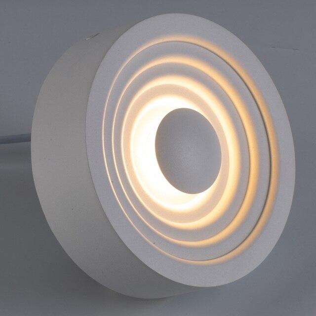 Zerouno الحديثة المدخل مصباح السقف ضوء داخلي للمنزل 220 فولت 110 فولت 6 واط 12 واط مصباح ليد ساقط دائري سقف جبل درج مصباح المطبخ