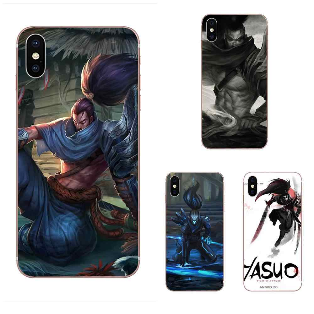 TPU Coque Kılıfı Için Huawei P7 P8 P9 P10 P20 P30 Lite Mini Artı Pro 2017 2018 2019 League Of legends Lol Yasuo Unforgiven