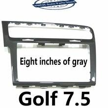 Plaques radio avec cadre décoratif pour Piano, noir/gris, pour vw golf 7 7.5 CD MIB 3 8 pouces 9.2 pouces