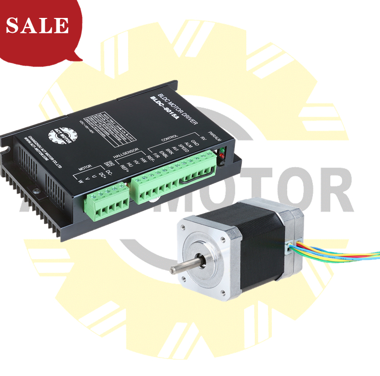 Venda act motor 1 pc nema 17 brushless dc motor 0.125n.m l63mm + 1 driver BLDC-8015A 50 v para cnc diy