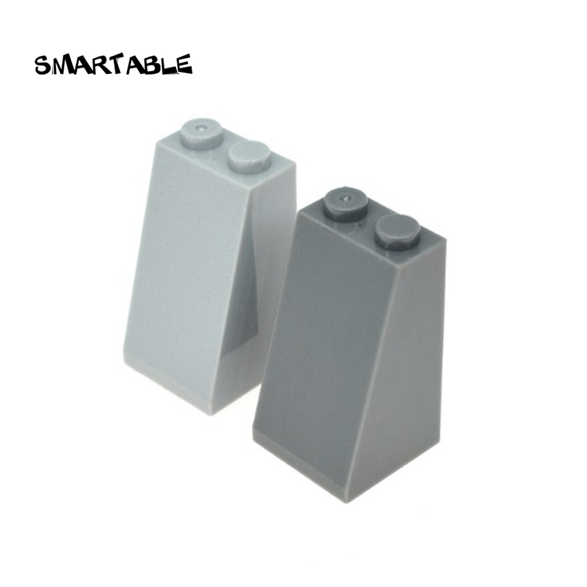 LEGO Lot of 4 Light Gray 2x2x3 Slope Pieces